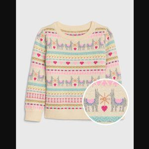 GAP: toddler llama sweater
